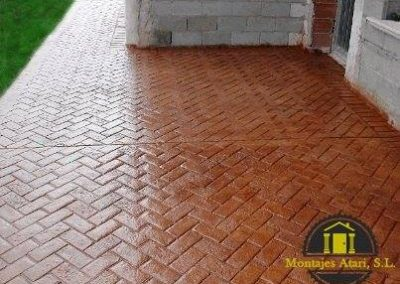 terraza cemento impreso