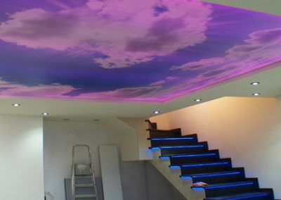 techos tensados iluminación