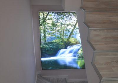 paredes 3D retroiluminado