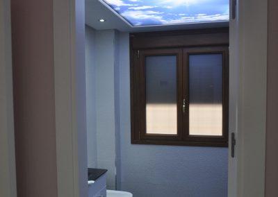 techos 3D baño retroiluminado